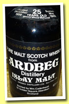 Ardbeg 25 yo 1959/1985 (46%, Cadenhead, black dumpy, sherry wood)