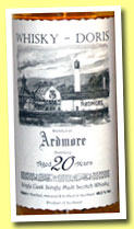 Ardmore 20 yo 1992/2012 (49.5%, Whisky-Doris, bourbon barrel, cask #4768, 134 bottles)