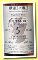 Aultmore 5 yo 2007/2012 (66.8%, Master of Malt, 1st Fill Sherry Puncheon, 628 bottles)