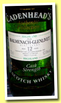 Balmenach-Glenlivet 12 yo 1981/1993 (62.6%, Cadenhead, Authentic Collection)