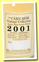 Balmenach 2001/2009 (46%, Càrn Mor, Scottish Liqueur Centre, barrel, cask #800412)