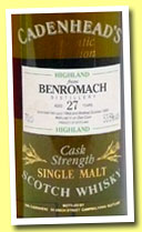 Benromach 27 yo 1966/1993 (53.5%, Cadenhead, Authentic Collection)