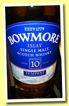 Bowmore 10 yo 'Tempest' (55.1%, OB, first fill bourbon, batch #4, 2012)