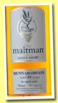 Bunnahabhain 10 yo 2001/2012 (46%, The Maltman, sherry cask)