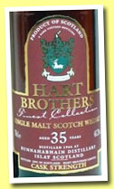 Bunnahabhain 35 yo 1966/2001 (43.2%, Hart Brothers, Finest Collection)