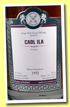 Caol Ila 1993/2012 (56.1%, Malts of Scotland, sherry hogshead, cask #MoS 12037, 225 bottles)