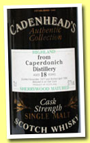Caperdonich 18 yo 1977/1996 (57.7%, Cadenhead's Authentic Collection, Sherrywood)
