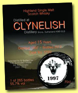 Clynelish 15 yo 1997/2012 (55.7%, The Bonding Dram, hogshead, cask #5733, 265 bottles)