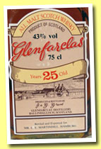 Glenfarclas 25 yo (43%, OB, 'all malts', Martindill, Germany, +/-1975)