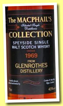 Glenrothes 1969/2008 (43%, Gordon & MacPhail, MacPhail's Collection)