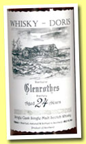 Glenrothes 24 yo 1988/2012 (49.3%, Whisky-Doris, sherry hogshead, cask #7317, 288 bottles)