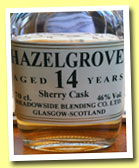 Hazelgrove 14 yo 1998/2012 (46%, The Maltman, sherry, 331 bottles)