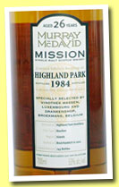 Highland Park 26 yo 1984/2011 (53%, Murray McDavid for Vinothek Massen and Drankenshop Broekmans, bourbon cask, 243 bottles)