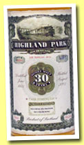 Highland Park 30 yo 1973/2003 (58.7%, Jack Wiebers, Old Train Line, cask #8396, 168 bottles)