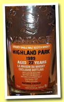 Highland Park 22 yo 1989/2012 (54.6%, Signatory for LMdW, sherry butt, cask #11897, 539 bottles)