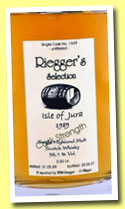 Isle of Jura 1989/2007 (58.1%, Riegger's Selection, 50cl)