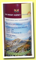 Isle of Jura 24 yo 1988/2012 (50.8%, The Whisky Agency & Bresser & Timmer, bourbon barrel, 251 bottles)