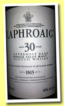 Laphroaig 30 yo (43%, OB, US bottling, 75cl, +/-2002)