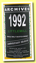 Littlemill 20 yo 1992/2012 (54.8%, Archives, bourbon hogshead, cask #44, 339 bottles)
