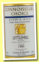 Littlemill 20 yo 1985/2005 (40%, Gordon & MacPhail, Connoisseurs Choice, small map Label, sherry)