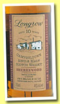 Longrow 10yo 1991/2001 'Sherrywood' (46%, OB)
