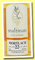 Mortlach 22 yo 1990/2012 (46%, The Maltman, bourbon, cask #1650)