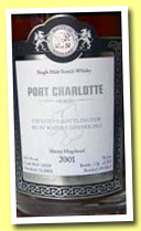 Port Charlotte 2001/2012 (63.3%, Malts of Scotland, sherry hogshead, cask #MoS 12039, 302 bottles)