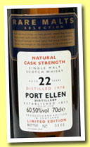 Port Ellen 22 yo 1978/2000 (60.5%, OB, Rare Malts)
