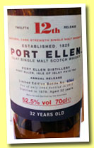 Port Ellen 32 yo 1979/2012 '12th Annual Release' (52.5%, OB, 2964 bottles)