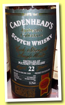 Pulteney 22 yo 1990/2012 (55.2%, Cadenhead, Authentic Collection, bourbon barrel, 204 bottles)