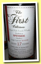 Speyside 17 yo 1994/2012 (61.2%, The First Editions, cask ref #ES 019/01)