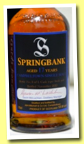 Springbank 17 yo (52.8%, OB and Ralfy.com for charity, fresh Port, 1 bottle, 2012)