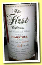 Tomintoul 44 yo 1967/2011 (50.9%, The First Editions, cask ref #ES 007/01)