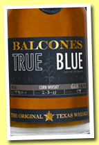 Balcones 'True Blue' (58%, OB, USA, Texas, +/-2012)