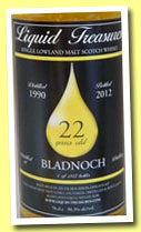 Bladnoch 22 yo 1990/2012 (50.3%, Liquid Treasures, bourbon hogshead)