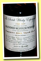 Blended Scotch Whisky 21 yo 1988/2009 (47%, Scotch Whisky Experience, 498 bottles)