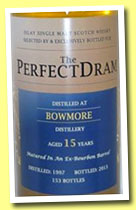 Bowmore 15 yo 1997/2013 (52.5%, The Whisky Agency, The Perfect Dram, barrel, 153 bottles)