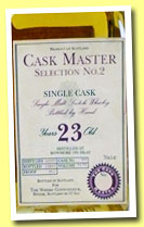 Bowmore 23 yo 1972/1995 (54.7%, The Whisky Connoisseur, Cask Master Selection No.2, cask #909)