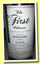 Bowmore 16 yo 1996/2013 (52.7%, The First Editions, refill bourbon hogshead, 70 bottles)