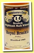 Royal Brackla 14 yo 1969 (40%, Gordon & MacPhail, Connoisseur's Choice, old brown label, +/- 1983)