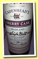Royal Brackla 20 yo 1992/2013 (52.4%, Cadenhead, sherry, 180 bottles)