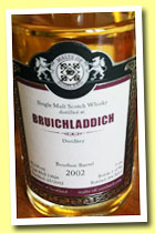 Bruichladdich 2002/2013 (55.2%, Malts of Scotland, bourbon barrel, cask #MoS 13026, 235 bottles)