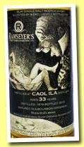 Caol Ila 33 yo 1979/2012 (53.2%, Ramseyer's Whisky Connection, Zurich, Switzerland)