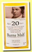 Dailuaine 20 yo 1992/2013 (54.1%, The Whisky Barrel, Burns Malt, bourbon barrel, cask #3127)