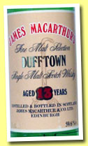 Dufftown 13 yo 1978 (59.6%, James McArthur, +/-1991)