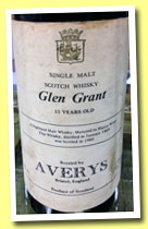 Glen Grant 11 yo 1969/1980 (75° proof, Averys, sherry wood)