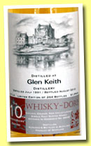 Glen Keith 21 yo 1991/2012 (51.9%, Whisky-Doris, 10th Anniversary, hogshead, cask #89645, 264 bottles)