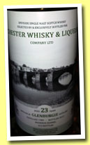 Glenburgie 23 yo 1989/2012 (54.8%, Chester Whisky, bourbon barrel, 212 bottles)