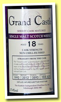 Grand Castle 18 yo 1993/2012 (57.4%, The Scottish Independent Distillers Co., cask #3593, 631 bottles)