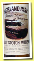 Highland Park 8 yo (43%, OB, view of Orkney, straight neck, +/-1975)